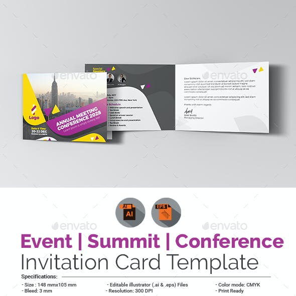 Event / Summit / Conference Invitation Card