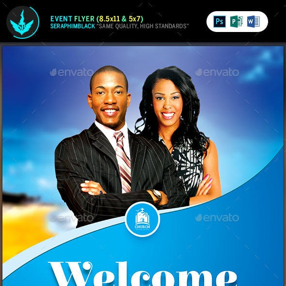 Church Welcome Cover Template