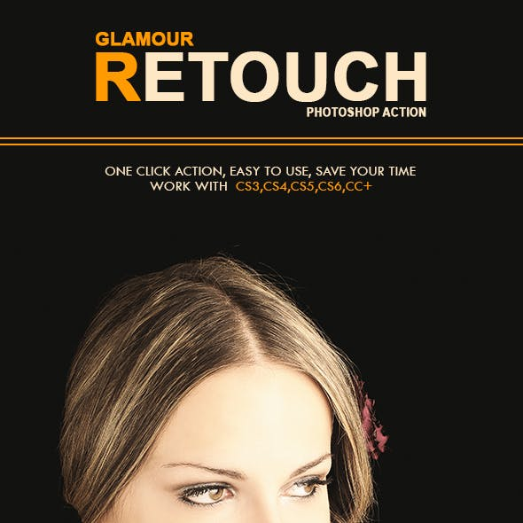 Glamour Retouch Photoshop Action