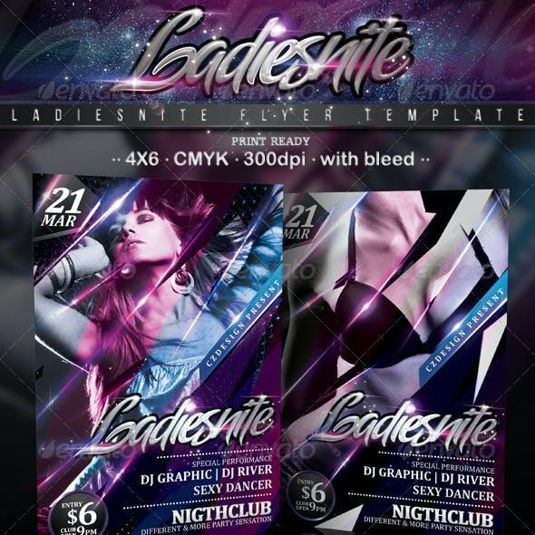 Ladiesnite Flyer Template