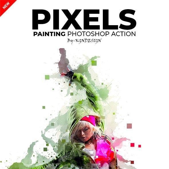 Pixels Painting Photoshop Action