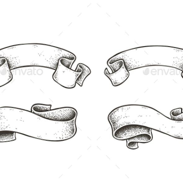 Vector Dotwork Ribbons