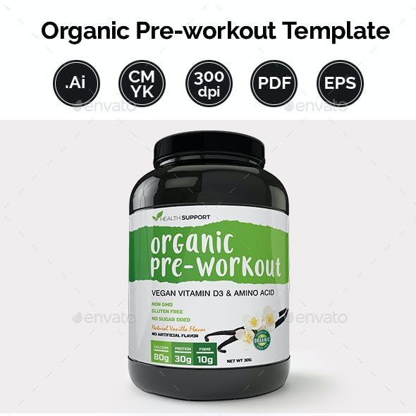 Pre-Workout Supplement Label Template