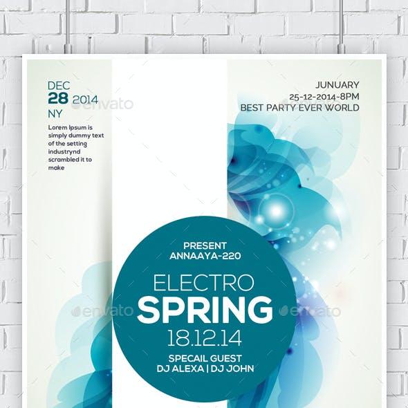 Electro Spring Nights Flyer