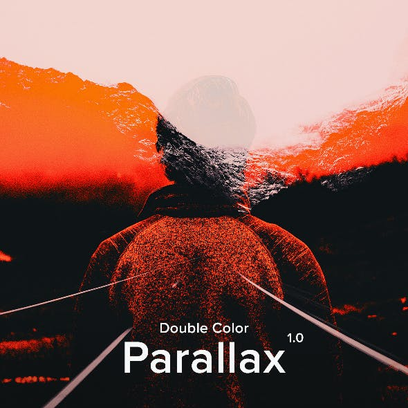 Double Color Parallax - Animated Photoshop Action