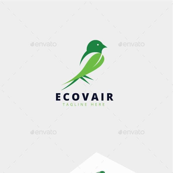 Ecovair Green Bird Logo