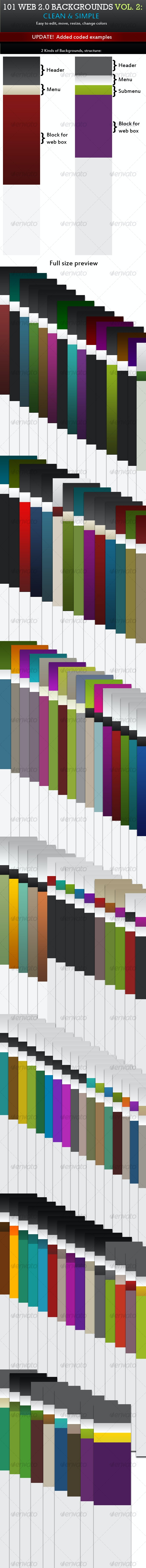 101 Web 2.0 Backgrounds VOL. 2 - Backgrounds Graphics