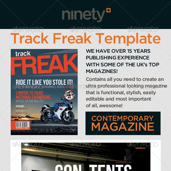 Track Freak Magazine Template