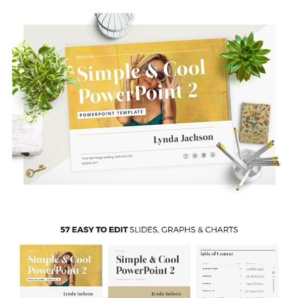 Simple & Cool PowerPoint Template 2