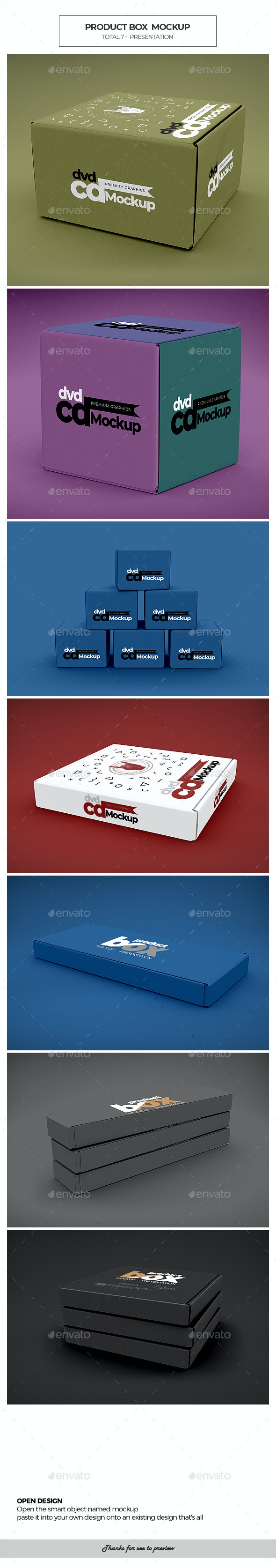 Product Box / Mockup - Packaging Product Mock-Ups