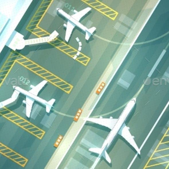 Vectpr Airport Top View