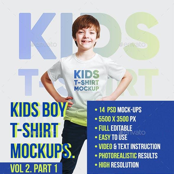 Kids Boy T-Shirt Mockups Vol2. Part 1