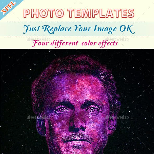 Coarse Oil Painting Photo Templates