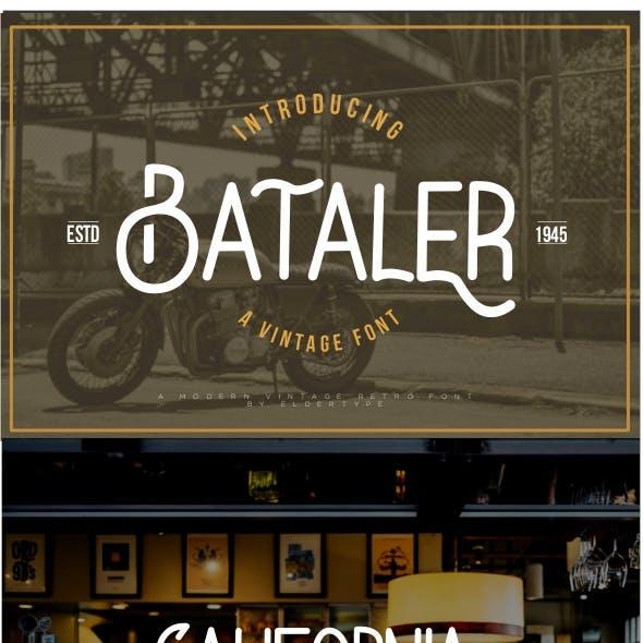 Bataler - Vintage Retro Font