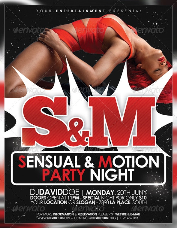 Sensual & Motion Party Flyer - Clubs & Parties Events