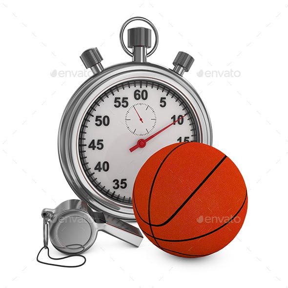 Basketball Whistle and Stopwatch