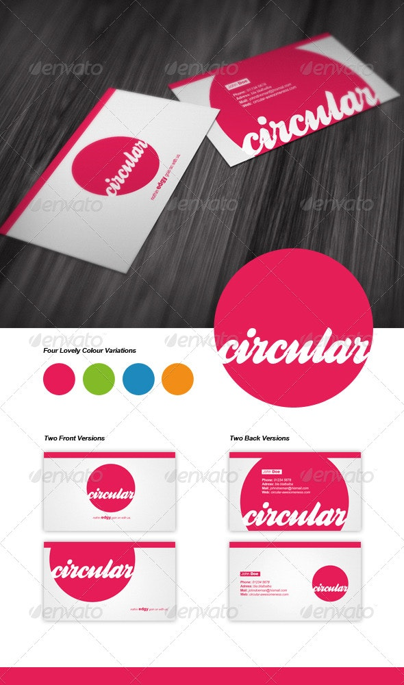 Circular Business Card - Creative Business Cards