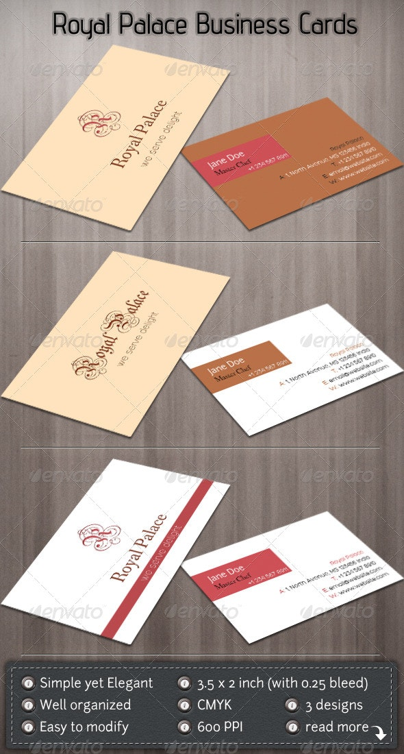 Royal Palace - Corporate Business Cards