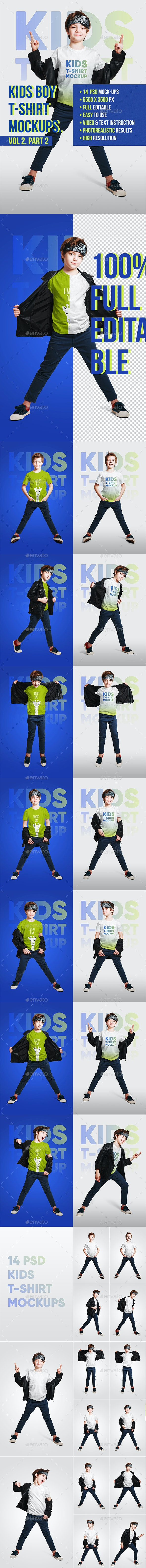 Kids Boy T-Shirt Mockups Vol2. Part 2 - T-shirts Apparel
