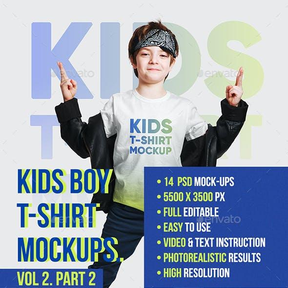 Kids Boy T-Shirt Mockups Vol2. Part 2