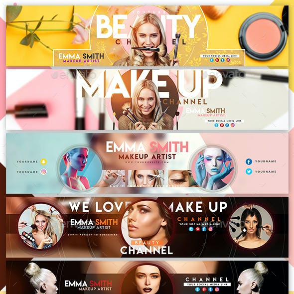 Creative Beauty YouTube Banners