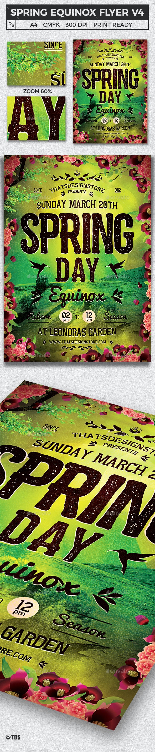 Spring Equinox Flyer Template V4 - Clubs & Parties Events