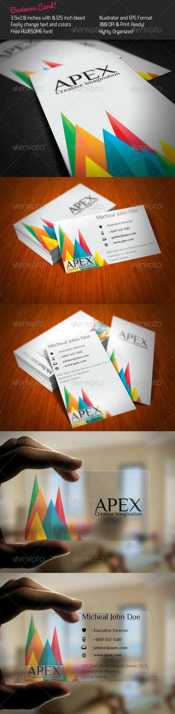 Apex Business Card - Creative Business Cards