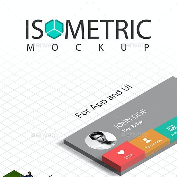 3D Isometric Mockup