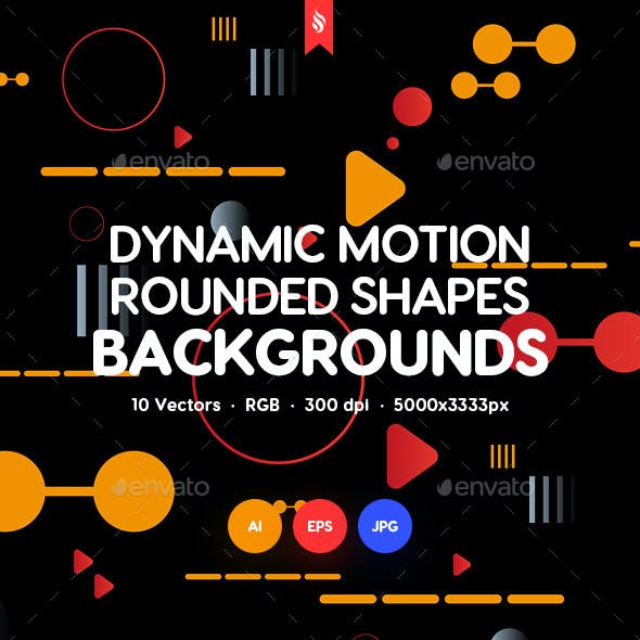 Dynamic Motion Rounded Shapes Backgrounds