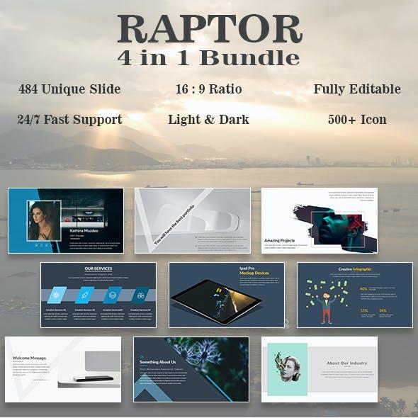 Raptor Bundle 4 in 1 Minimal Google Slide Template