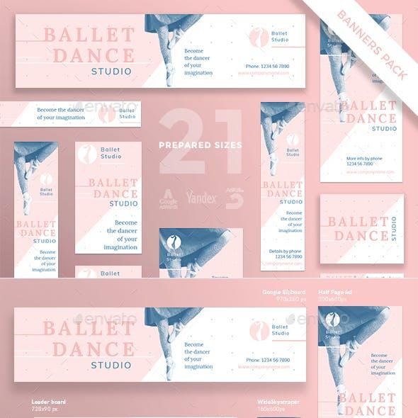 Ballet Dance Studio Banner Pack