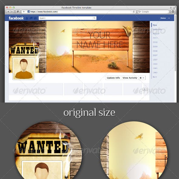 Wanted Facebook Timeline Cover