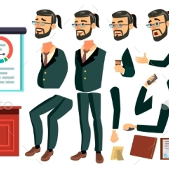 CEO Business Man Character Vector