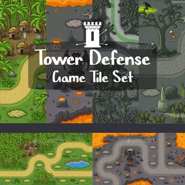 Tower Defense 2D Tile Sets