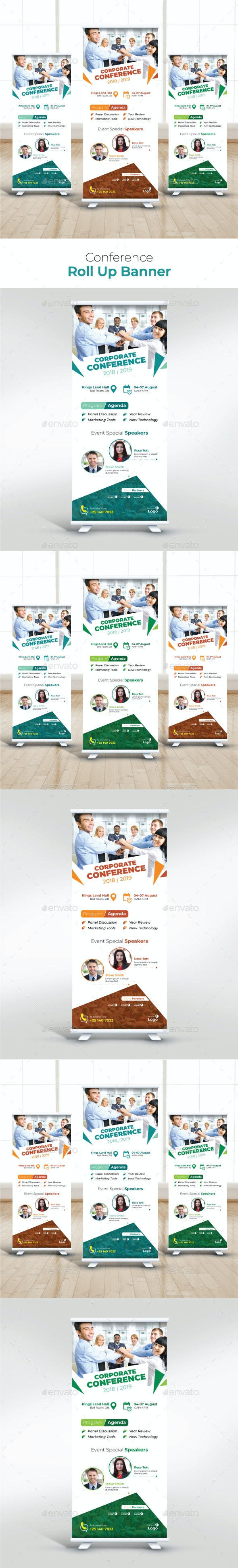 Conference Roll Up Banner - Signage Print Templates