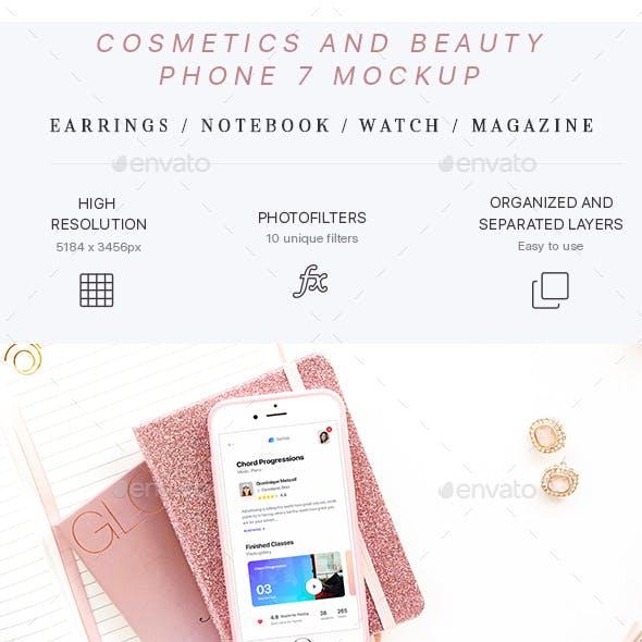 Cosmetics and Beauty Phone 7 Mockup