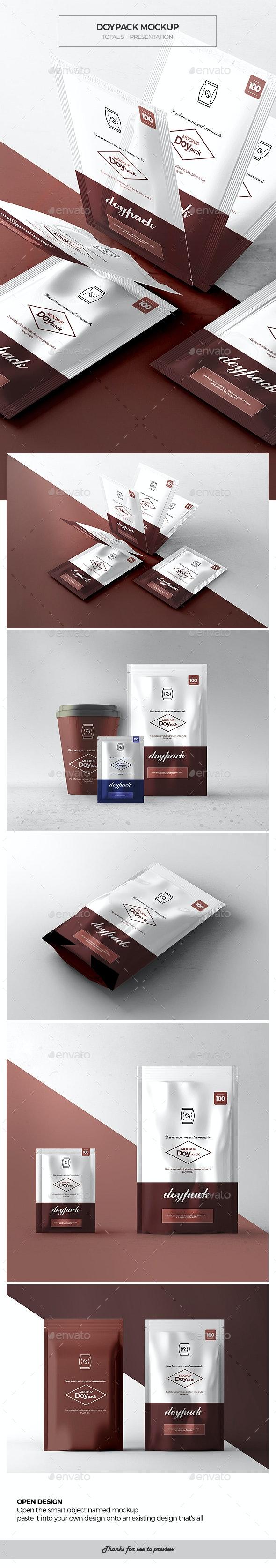 Doypack Mock-up 2 - Packaging Product Mock-Ups