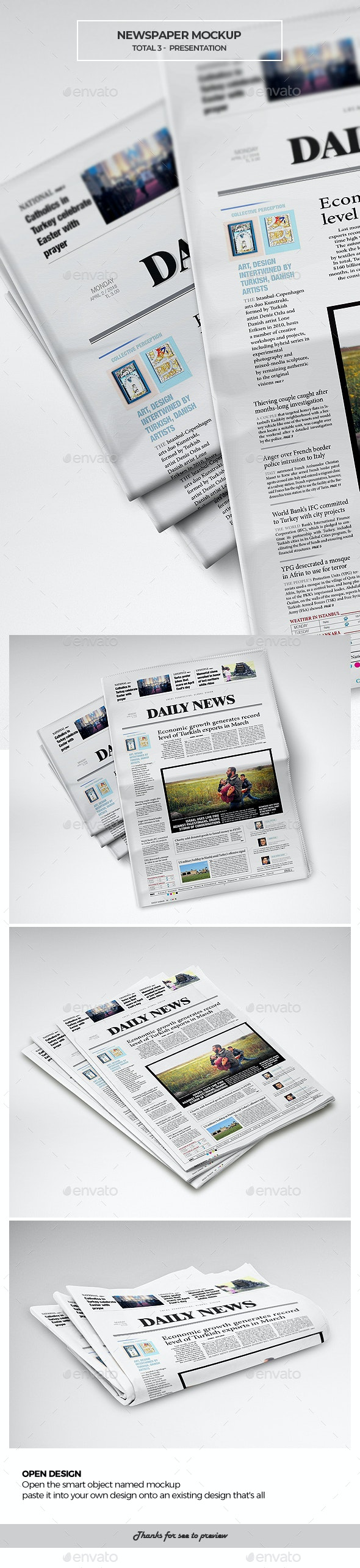 NewsPaper Mockup - Miscellaneous Print