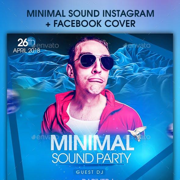 Minimal Sound Instagram + Facebook Cover