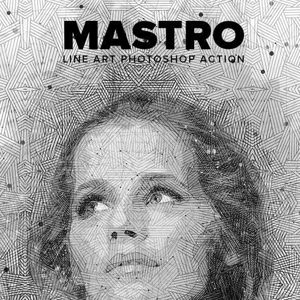 Mastro Line Art Photoshop Action