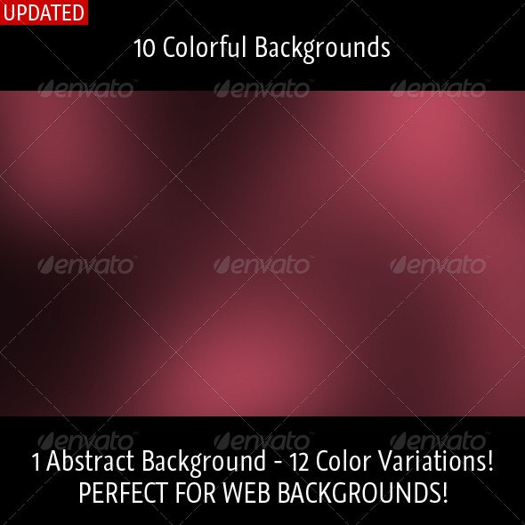 10 Colorful Backgrounds  - Abstract Backgrounds
