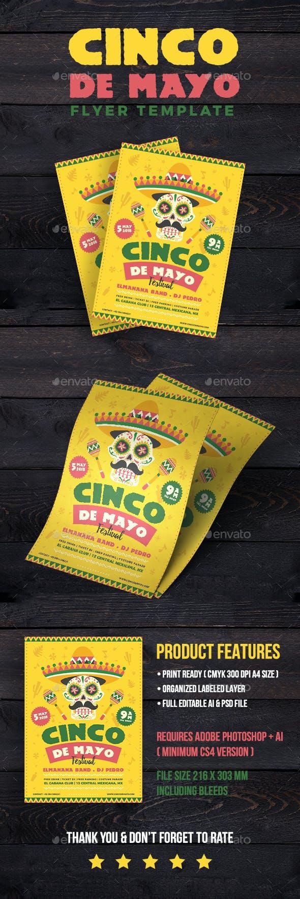 Cinco de Mayo Festival Flyer