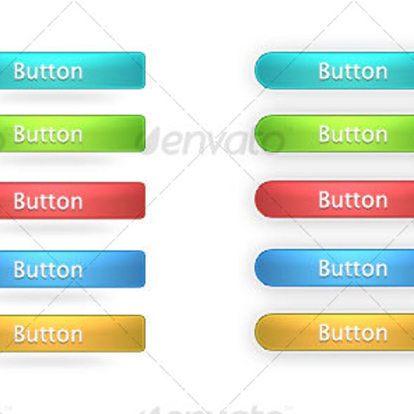 Shinny Buttons for web / PSD