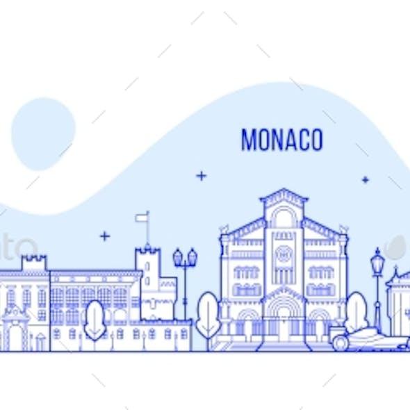 Monaco Skyline City Buildings Vector