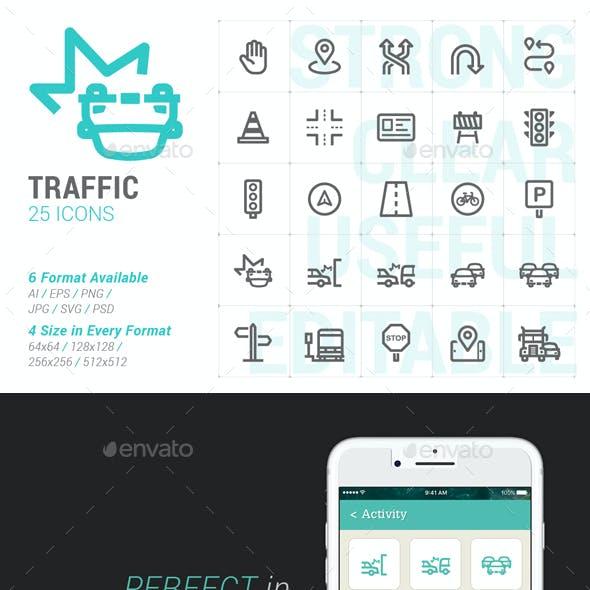 Traffic Mini Icon