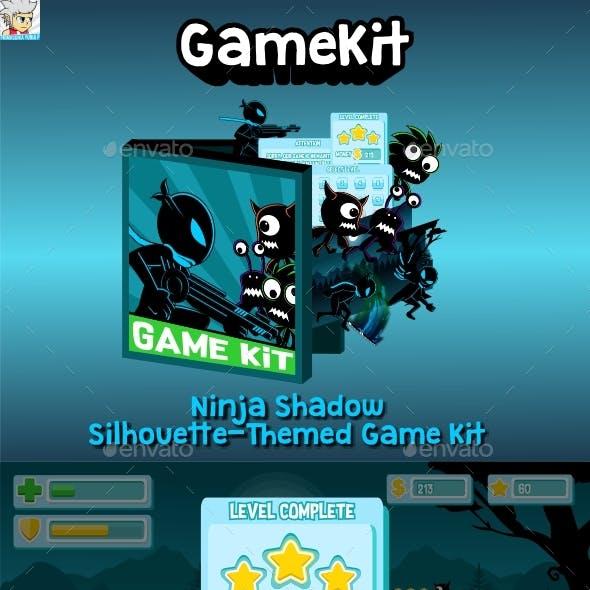Ninja Shadow Silhouette-Themed Game Kit Bundle