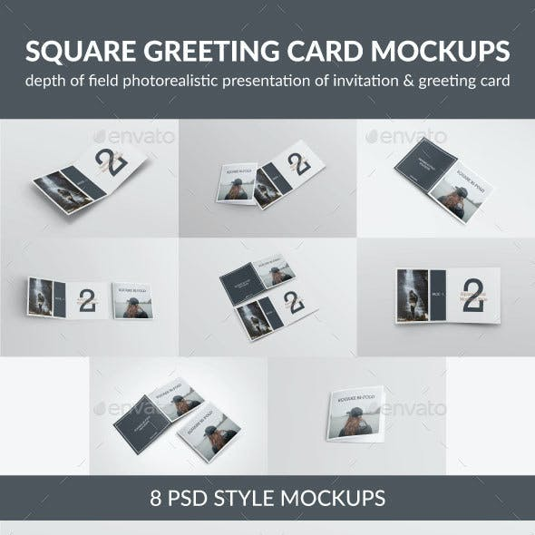 Square Greeting Card Mock-Up