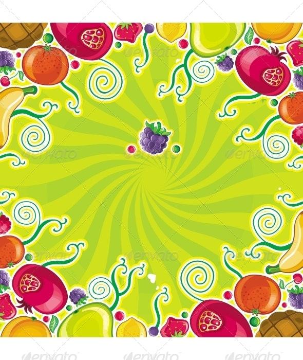 Fruity frame - Food Objects