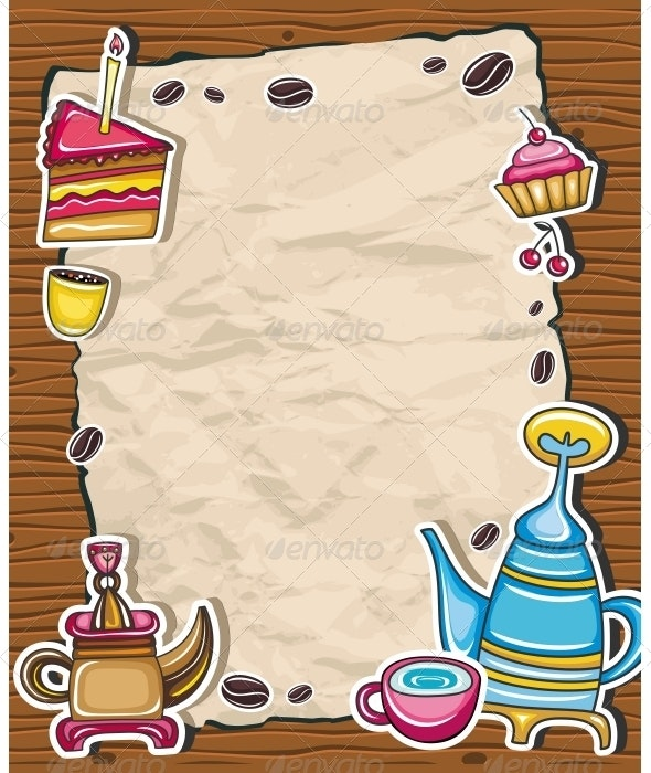 Coffee, and tea frame - Food Objects