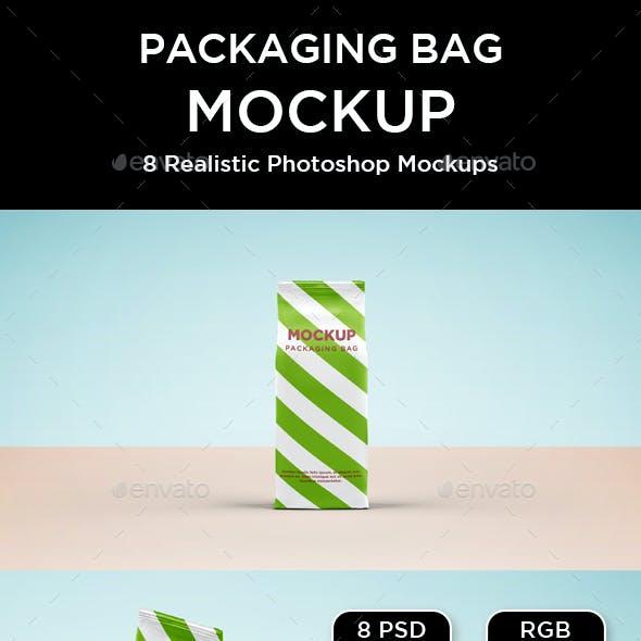 Packaging Paper Bag Mockup